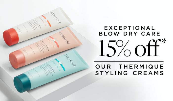 15% off Our Thermique Styling Creams