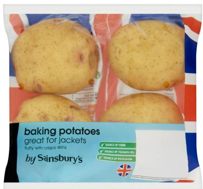 Best Price! Sainsbury's Baking Potatoes X4