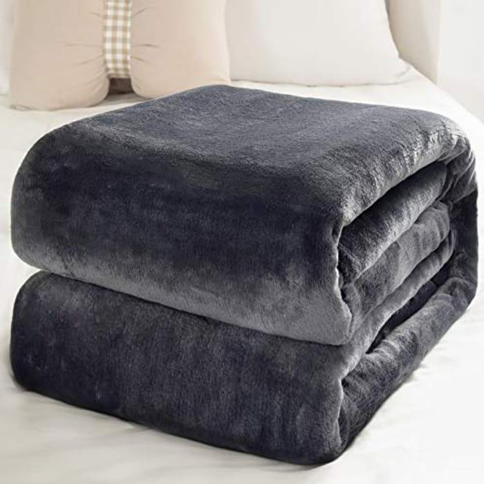 Deal Stack - Grey Fleece Blanket 150 X 200cm