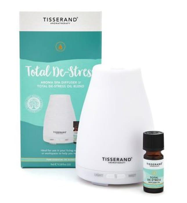 Tisserand Aromatherapy Total De-Stress Aroma Spa Diffuser& Stress Oil Blend