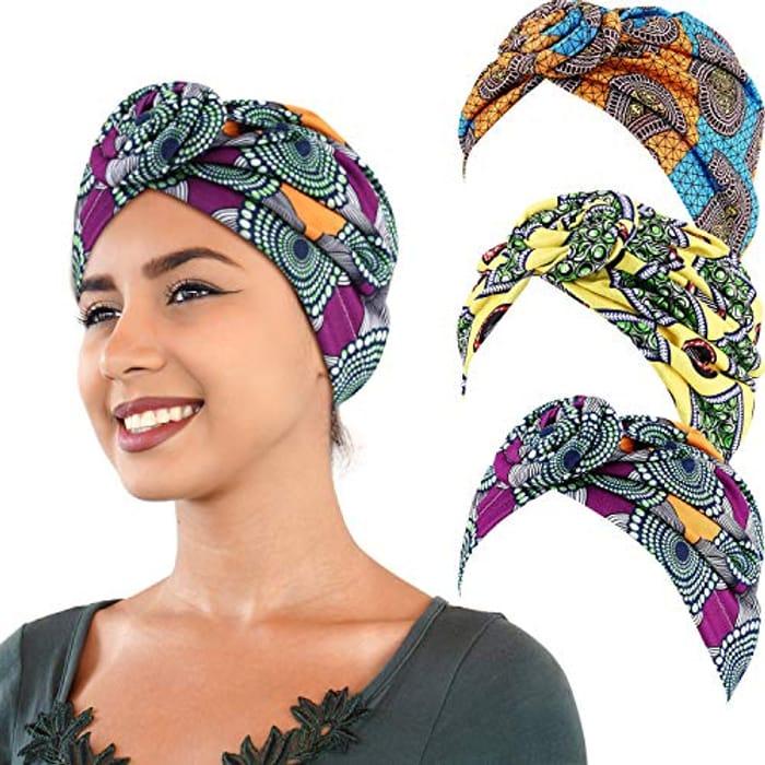 3 Pieces African Turban Head Wraps