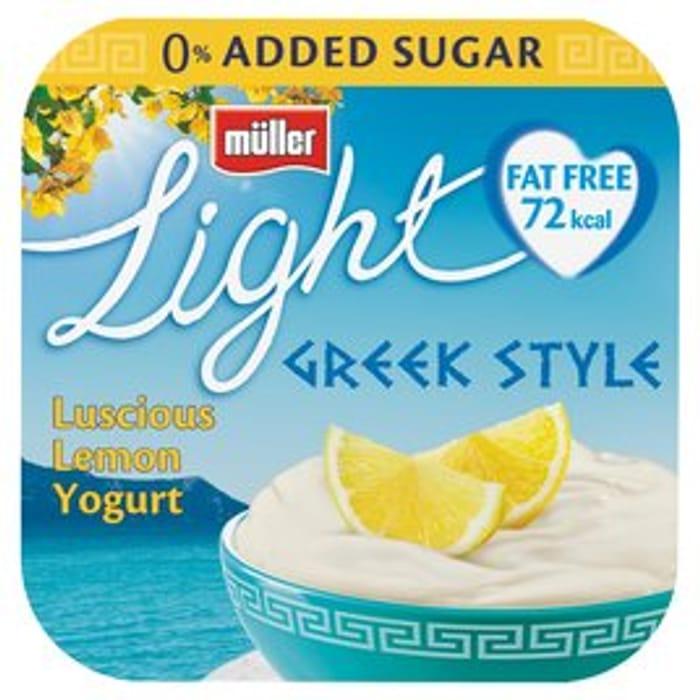 Muller Light Greek Style Luscious Lemon Yoghurts
