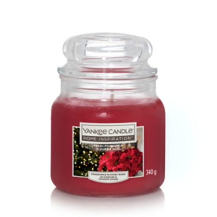 Yankee Candle Home Inspiration Medium Jar Fresh Poinsettia / Large Jar £9