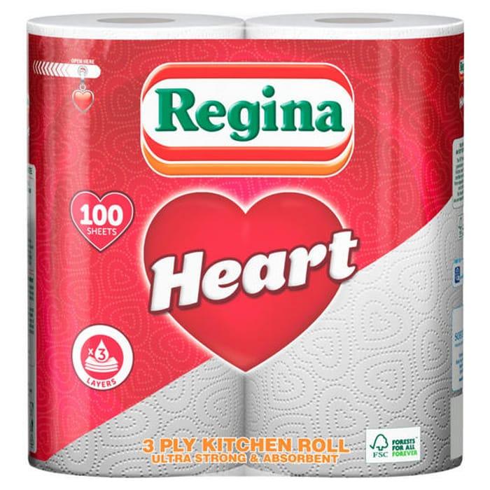 Regina Heart 3 Ply Kitchen Roll
