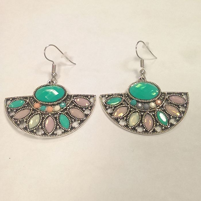 FREE Statement Earrings with Coloured Gem Detail