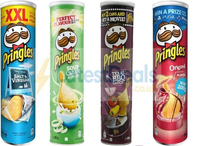 Cheap Pringles Crisps Various Flavours 200g - Only £1.25 !