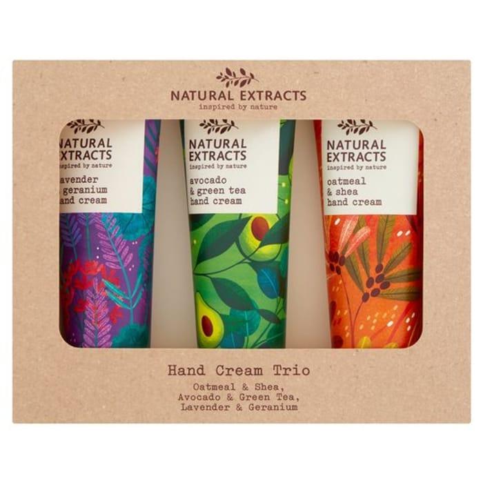 Natural Extracts Hand Cream Trio 3 X 50Ml HALF PRICE
