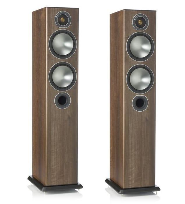 Monitor Audio Bronze 5 Floorstanders Speakers Walnut - Only £299!