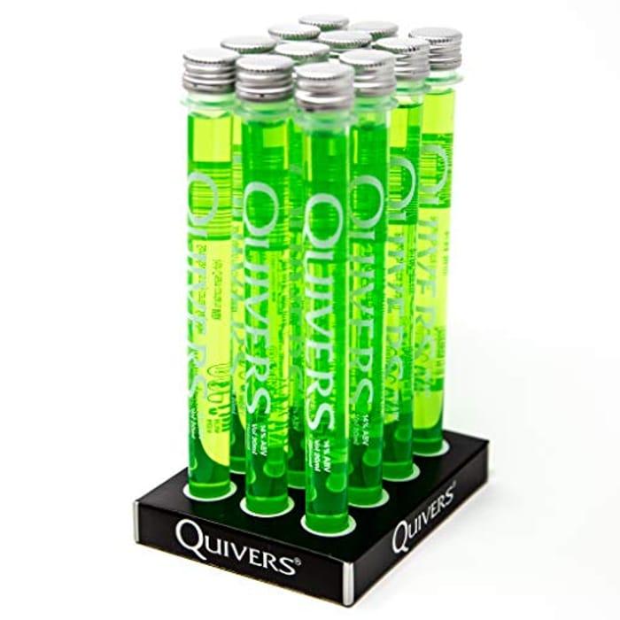 Quivers Sour Apple Vodka Shots, 14% ABV, 12 X 20ml