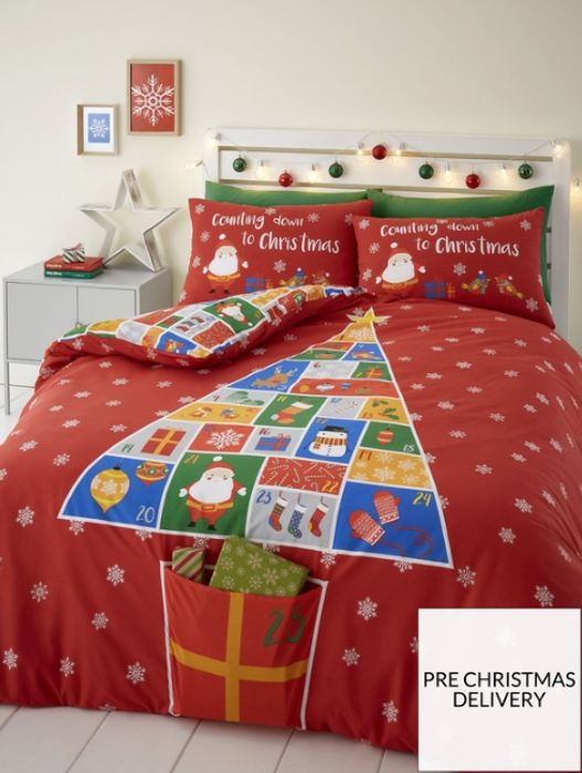 Catherine Lansfield Countdown to Christmas Duvet Cover Set