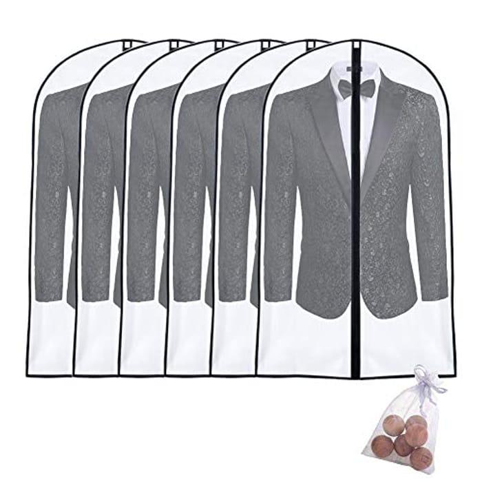 DEAL STACK - UOUEHRA Moth Proof Garment Bags 6packs + 25% Coupon