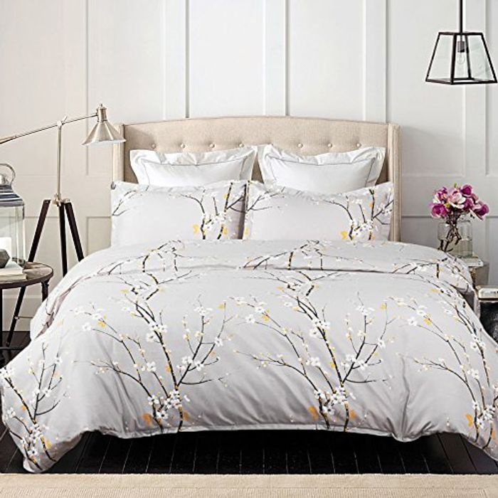 Bedsure Printed Duvet Cover Double Size - Only £6.49
