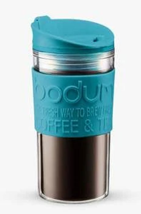 BODUM Double Walled Travel Mug, 350ml, Blue
