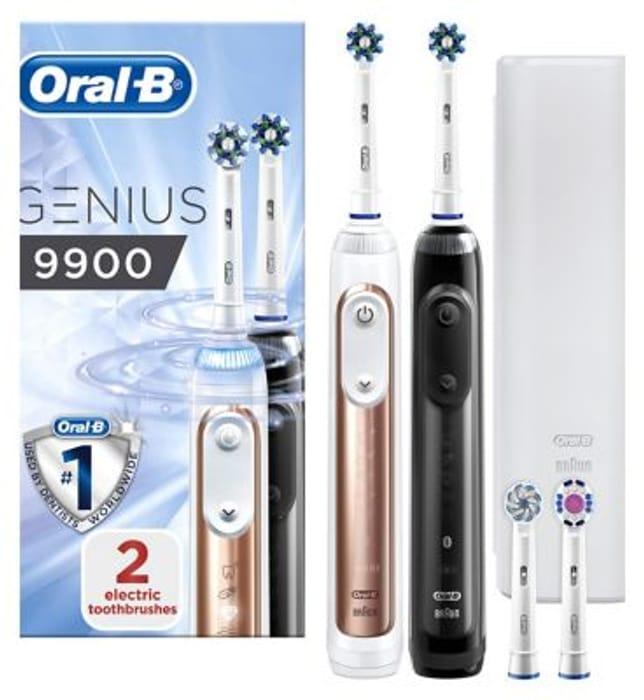 Oral B Genius 9900 Rechargable Toothbrush Duo Pack