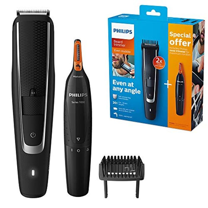 Philips Beard & Stubble Trimmer + Nose & Eyebrow Trimmer