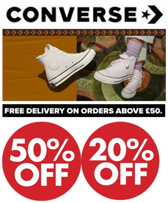 CONVERSE SALE - up to 50% OFF + EXTRA 20% OFF