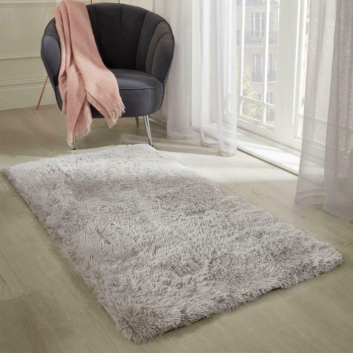 63% Off - Sienna Pink Or Grey Fluffy Rugs From £10.99 Delivered