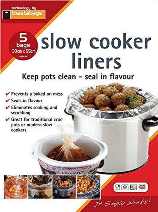 Cheap Slow Cooker Liners - 5 Pack Only £0.84!