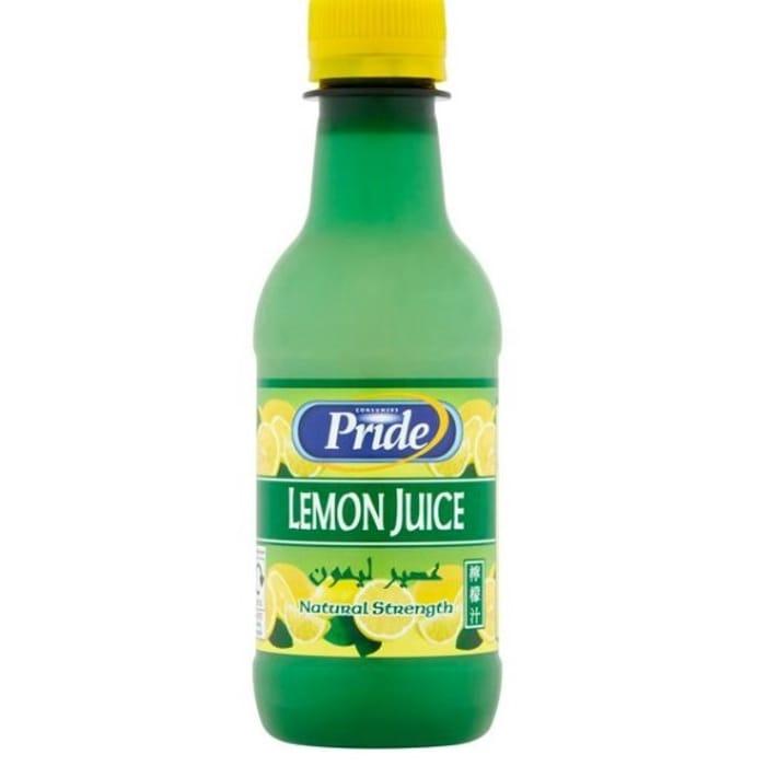 Cheap Pride Lemon Juice 250ml at Sainsbury's