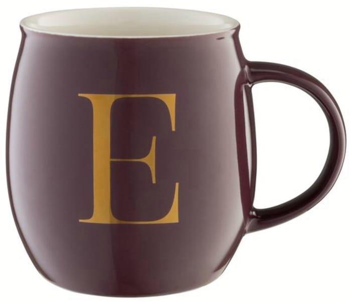Sainsbury's Home Monogram Mug E - (A - Z Available)
