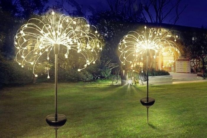 90, 120 or 150-LED Solar Firework Light - 3 Colours