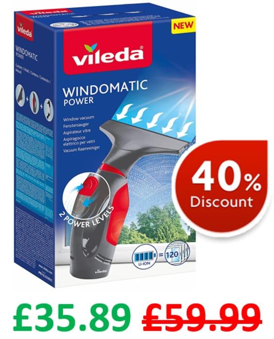 Vileda WindoMatic Power Window Vacuum Cleaner