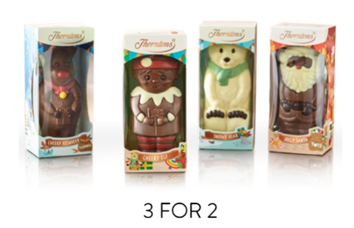 Thorntons 3 for 2 Gifts & Advent Calendars + Free £8.50 Box WYS £35!
