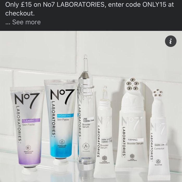 Get 3 No7 Laboratories Serums for Only £30 Use Code ONLY15