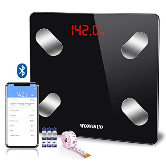 Bluetooth Smart Body Fat Scale WONGKUO - Only £9.99!