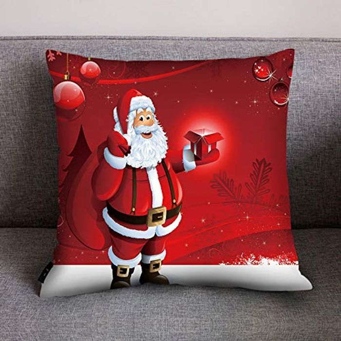 ,Merry Christmas Print Cushion Cover