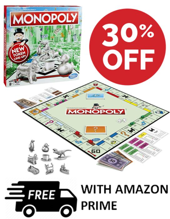 MONOPOLY - 30% Off CLASSIC MONOPOLY - The Board Game