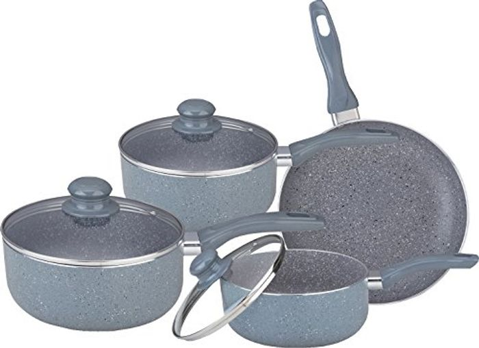 7PC Marble Coated Aluminium Non Stick COOKWARE