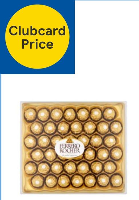 Ferrero Rocher T42 525G £10/Ferrero Raffaello 24 Pc Boxed Chocolates 240G, £4.50