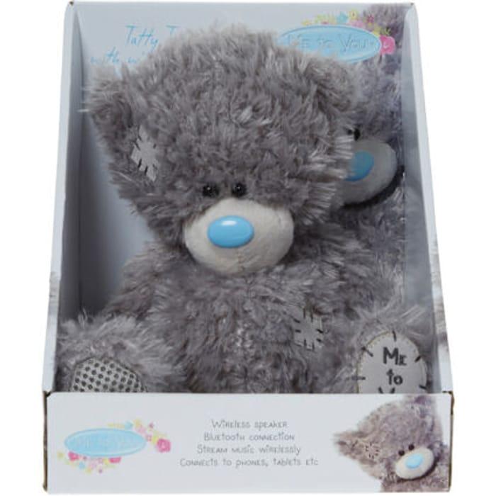 ME to YOU Grey Teddy Bear with Wireless Speaker