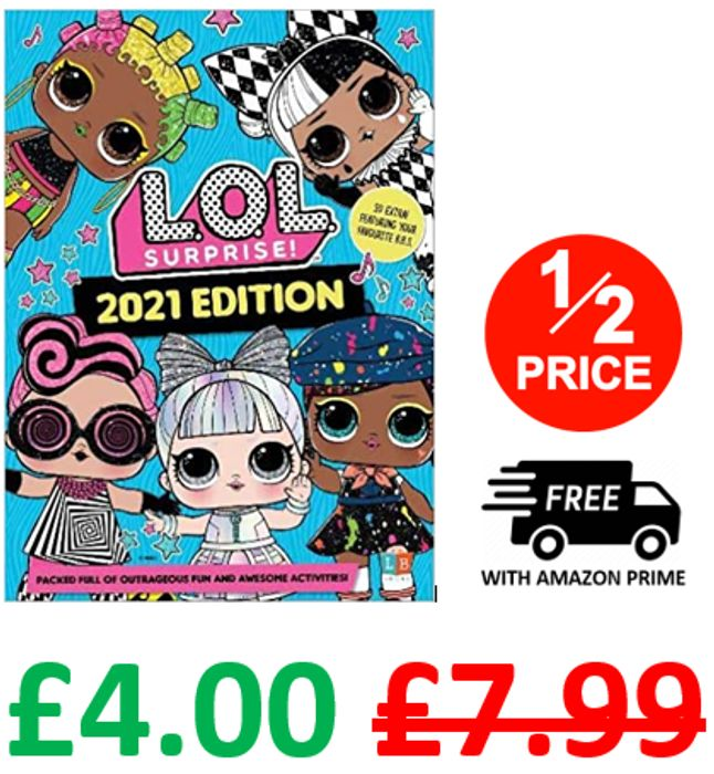 L.O.L. Surprise! 2021 Annual ***4.7 STARS*** GREAT STOCKING FILLER!