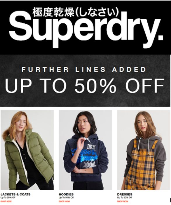 Superdry Sale - More Lines Added - up to 50% OFF