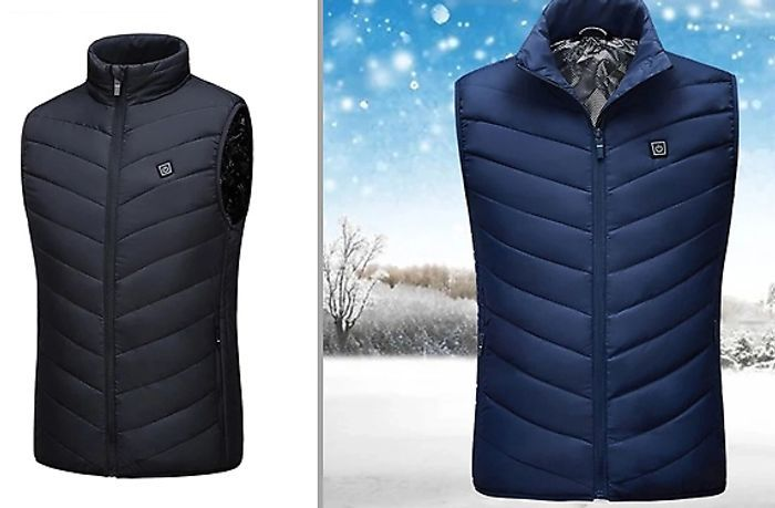 USB Electric Heated Padded Gilet - 6 Sizes & 2 Colours - £18.49 Delivered