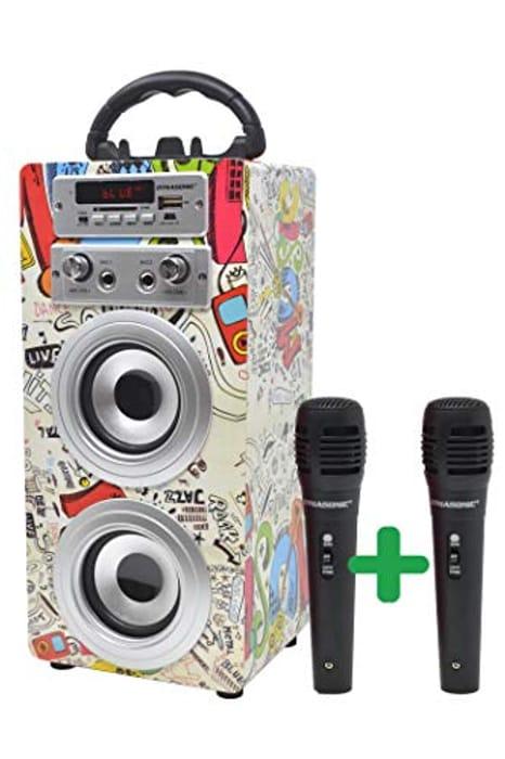 Portable Karaoke Bluetooth Speaker with Microphones