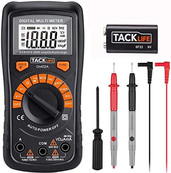 Save 50%- Tacklife DM02A Digital Multi Meter