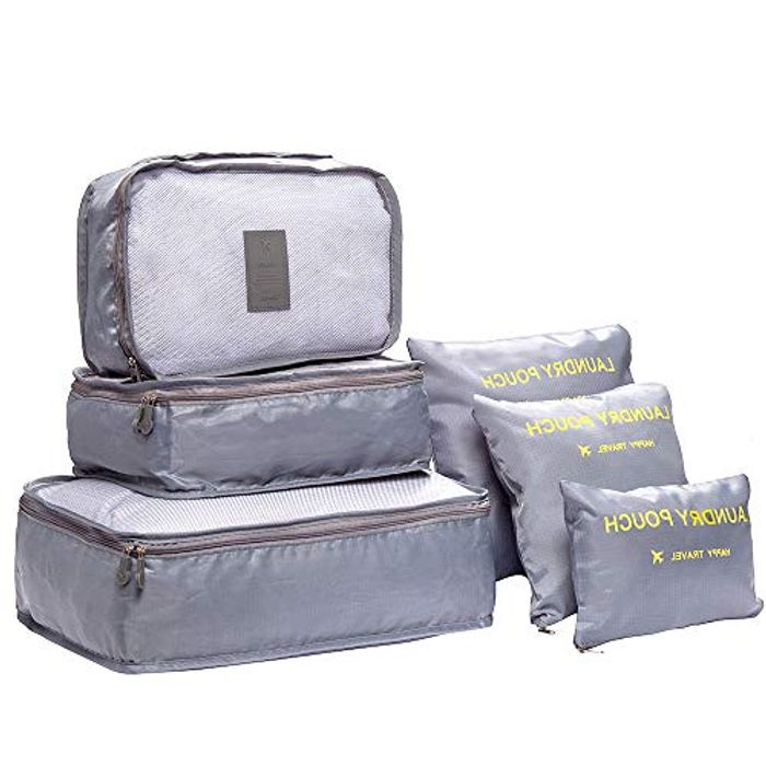 6 Piece Travel Organiser Bags