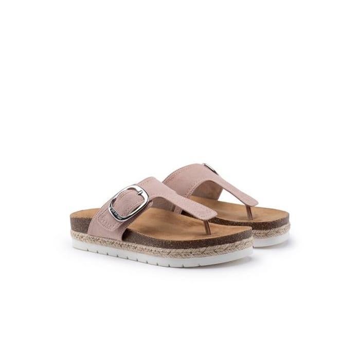 Nude Cleo Vegan Toe Post Sandal - 6