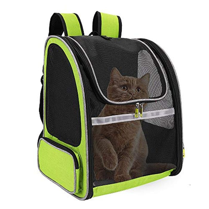 Link in Description- FREESOO Pet Carrier Backpack