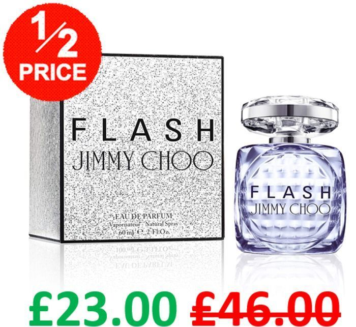 Jimmy Choo Flash Eau De Parfum 60ml - HALF PRICE & FREE DELIVERY