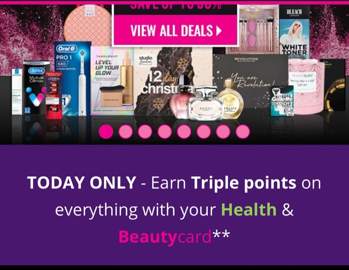 TODAY ONLY - Earn Triple Points on Everything with Your Health & Beautycard**