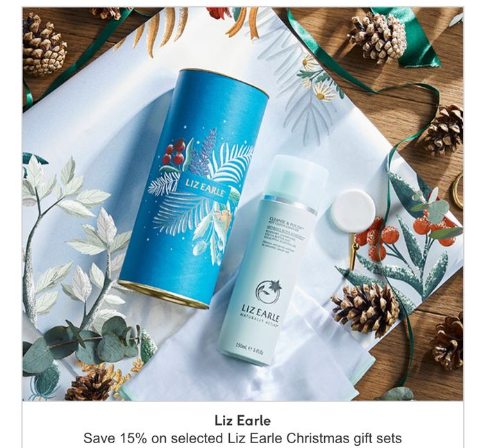 Save 15 Percent on Selected Liz Earle Christmas Sets , Limited Stock Available