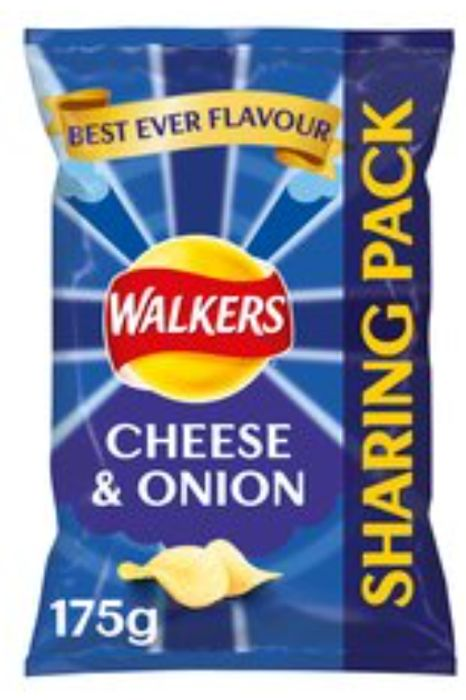Free Walkers Sharing Bag 175G All Varieties with Code Tesco online