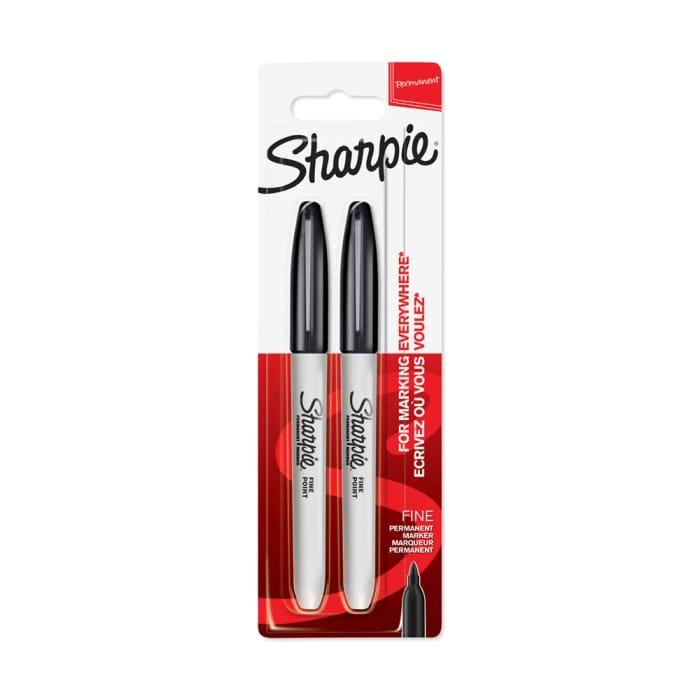 Sharpie Black Fine Point Permanent Marker 2 Pack