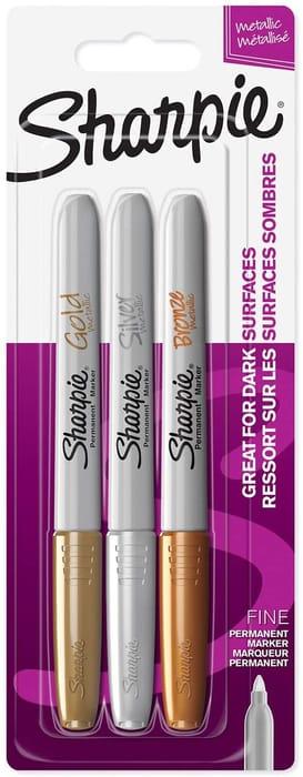 Sharpie Metallic Permanent Marker 3 Pack