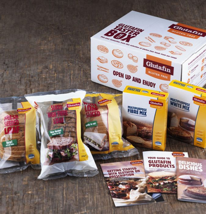 Free Glutafin Taster Box for people who are clinically diagnosed with coeliac