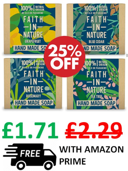 Faith In Nature Hand Soaps - 25% OFF & FREE DELIVERY WITH PRIME
